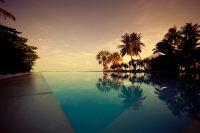 Zwembad blik op oneindig